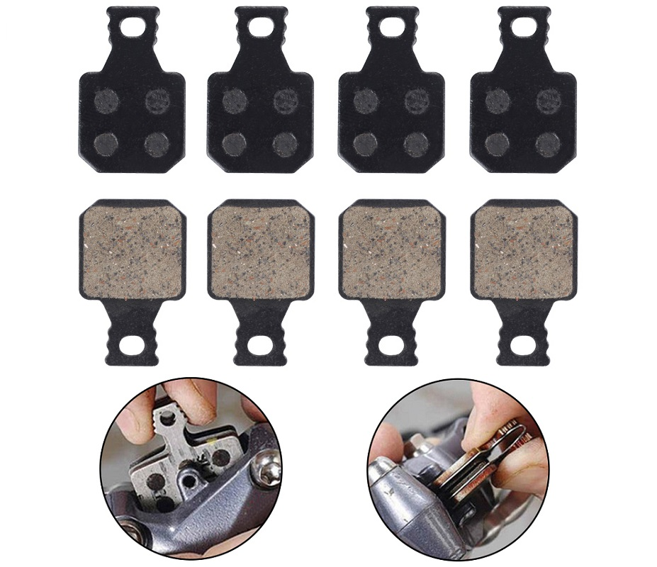 4Pairs Brake Pads Semi-Metallic Resin Replacements For Magura MT5 MT7 Parts