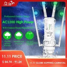 Wavlink High Power AC1200 zewnętrzny bezprzewodowy wzmacniacz sygnału WiFi AP/Router wi fi 1200 mb/s podwójny Dand 2.4G + 5Ghz daleki zasięg Extender POE