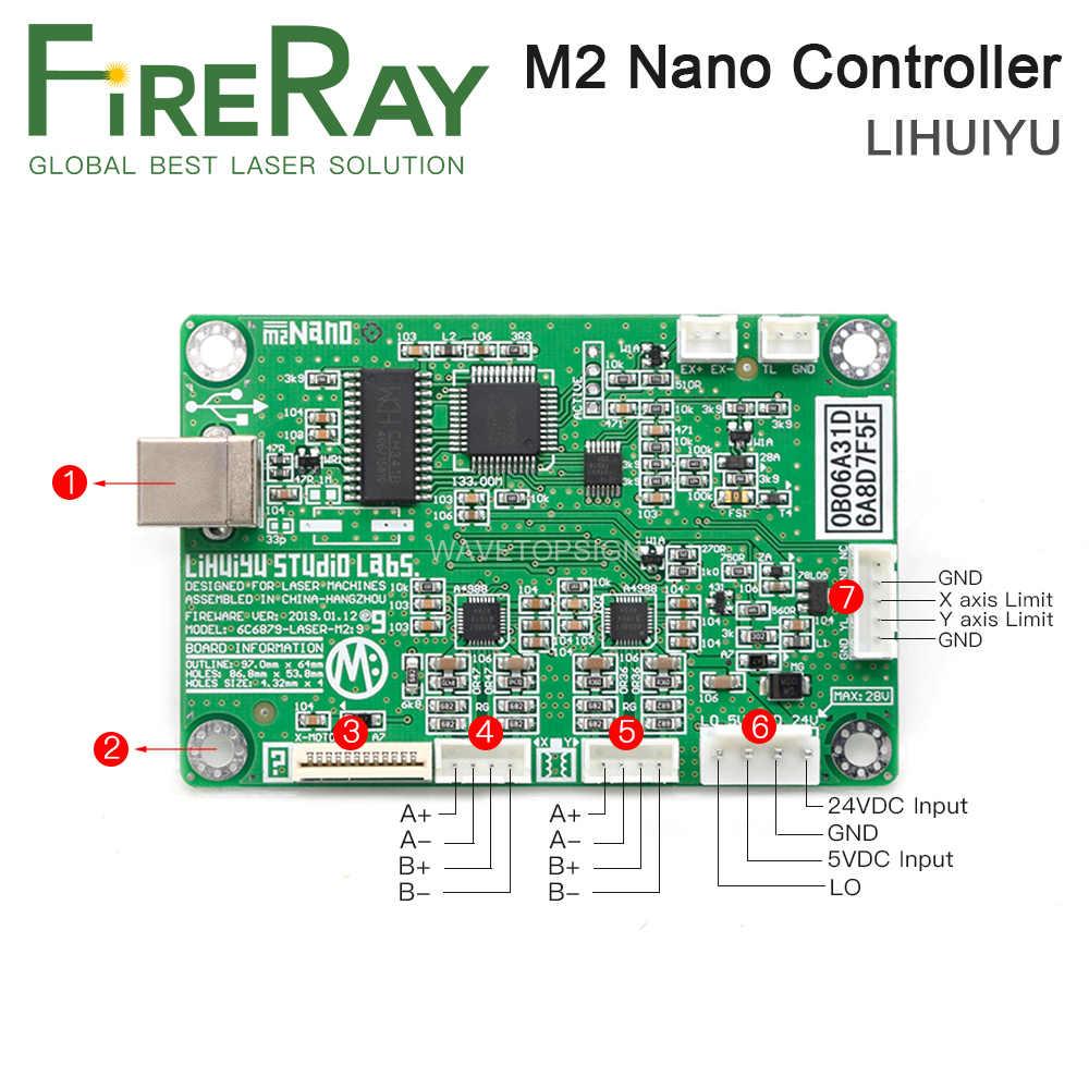 FireRay LIHUIYU M2 NANO เลเซอร์ Controller แม่หลัก + แผงควบคุม + Dongle B ระบบ Engraver เครื่องตัด DIY 3020 3040 K40