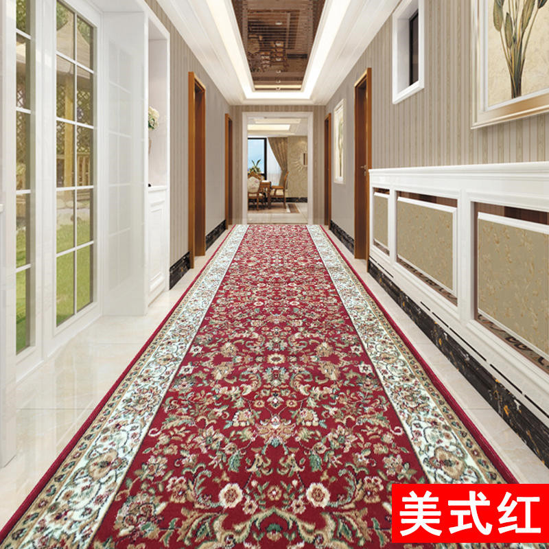 3D Flower Pastoral Style Long Wedding Carpet Party Banquet Decoration Runner Rug Aisle Red Runner Rug Hallway Carpet