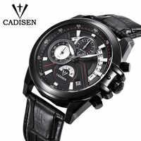 CADISEN 2019 Sitio web oficial para Hombres Auténticos uniformes militares relojes deportivos casuales impermeables para hombres relojes de pulsera de acero de cuarzo