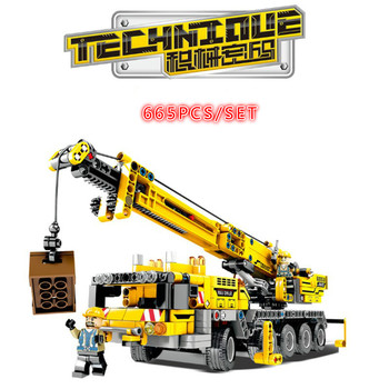 701800 Mobile Crane MK II Sets Building Blocks Bricks Compatible with 42009 Educational Technic series Technique toys gift image