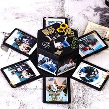 Креативный фотоальбом ручной работы шестигранный взрыв Подарочная коробка для семьи друзей подарок скрапбук фестиваль подарки для влюбленных