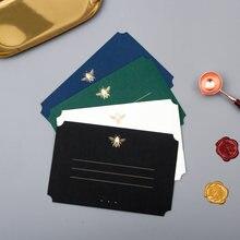 10 шт/лот Бронзирующая пчела наборы поздравительных открыток