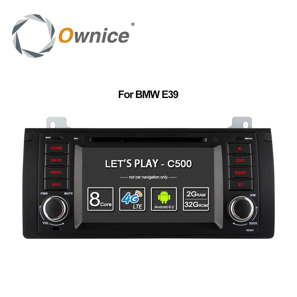 Ownice 4G SIM LTE Android 6.0 Octa Core 32G ROM In Dash Car DVD Player For BMW E39 X5 M5 E38 E53 With Wifi GPS Navi Radio FM image