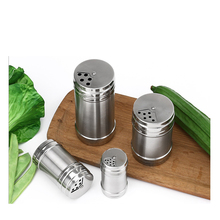 Spice Salt Pepper Shakers Seasoning Jar Can Barbecue Condiment Jar Bottles Cruet Container Stainless Steel Kitchen Tool