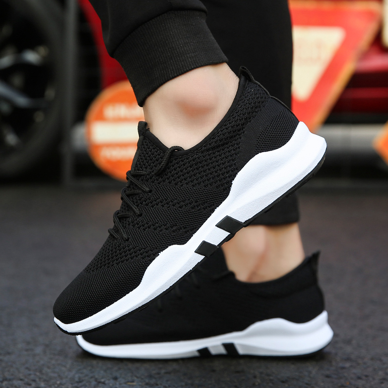 2020 Men Casual Shoes Sneakers Lace up Men Shoes Lightweight Comfortable Mesh Breathable Walking Sneakers Tenis Feminino Zapatos