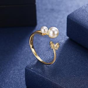 Image 3 - DOM Vrouwen Ringen 925 Sterling Zilver Verstelbare Ring Elegante Vlinder Parel Ringen voor Vrouwen Originele Fijne Sieraden SVR395