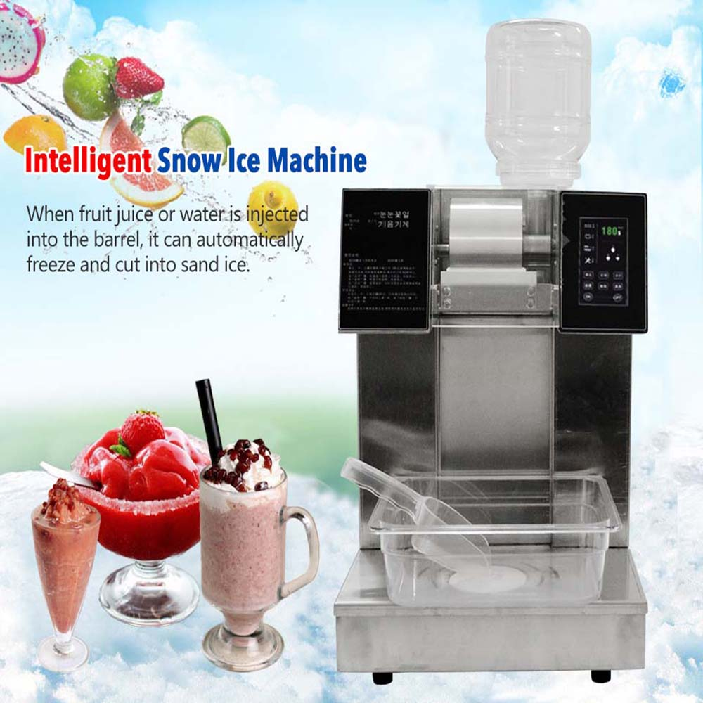 Snowflake Ice Machine Snow Cone Maker Ice Crusher Commercial Stianless Steel Water-cooled Crushed Ice Machine
