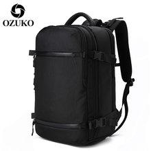 OZUKO мужской рюкзак, для путешествий, ноутбука с USB зарядкой, для улицы, водонепроницаемый, многофункциональный