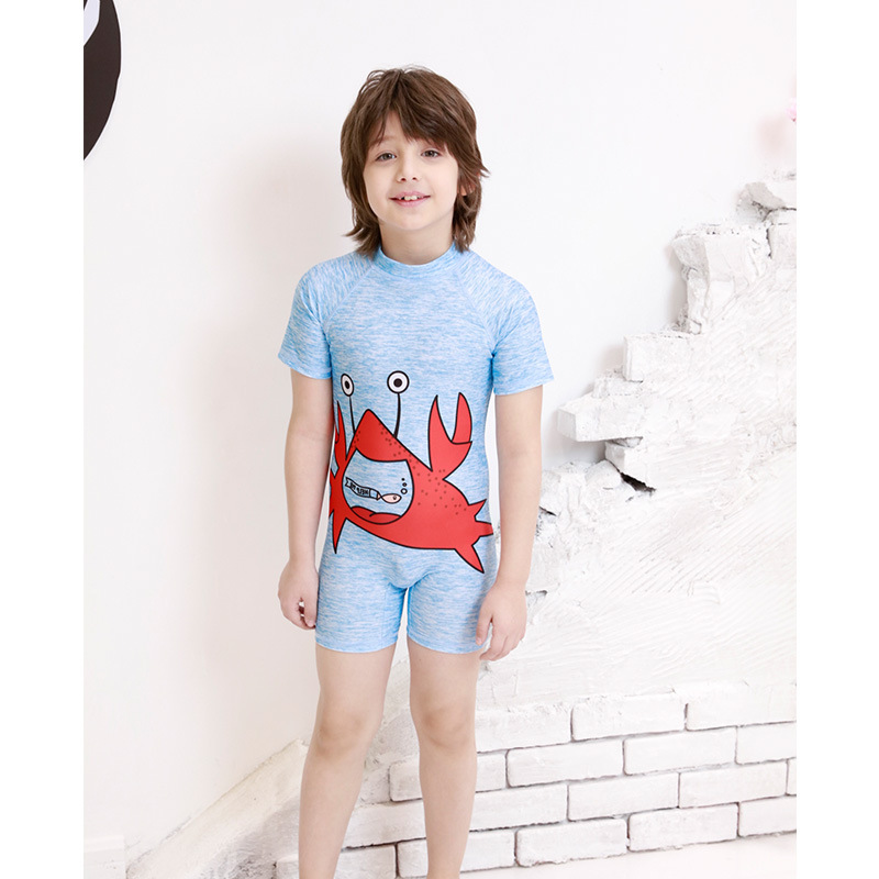 Baby Swimwear Infant Cartoon South Korea Baby GIRL'S Quick-Dry Three-Year-Old Small CHILDREN'S Sun-resistant Hot Springs BOY'S O