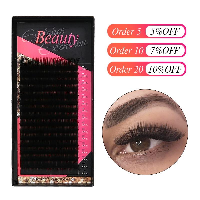 Klacuva 16lines Professional Lash Extensions Mega Volume Eyelash Extensions Mink Individual Eyelashes Hybrid Set Makeup Lashes
