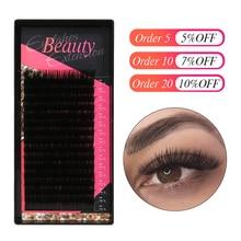 Klacuva 16lines professional lash extensions mega volume eyelash mink individual eyelashes hybrid set makeup lashes