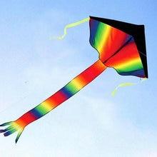 Огромный Радужный Летающий змей для детей с 100 м леска бумажного