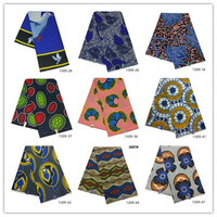 Ankara African Polyester Wax Prints Fabric new Bintareal wax High Quality 6 yards African Fabric for Party Dress 1309