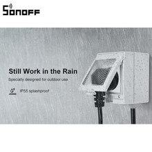 New Arrival SONOFF S55 WIFI inteligentne wodoodporne gniazdo aplikacja bezprzewodowa kontrola gniazdo domu ue francja standardowe AC100 240V