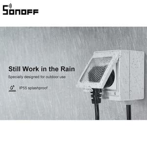 Image 1 - 새로운 도착 SONOFF S55 WIFI 스마트 방수 소켓 무선 APP 제어 홈 소켓 EU 프랑스 표준 AC100 240V