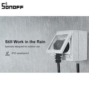 Image 1 - חדש הגעה SONOFF S55 WIFI חכם עמיד למים שקע אלחוטי APP בקרת בית שקע האיחוד האירופי צרפת סטנדרטי AC100 240V