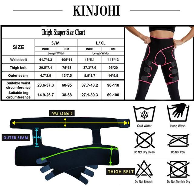 Womens Hip Belt Burst Sweat Plastic Belt Sports Bodybuilding Adjustable One-piece Waist Belt Leg Belt 5