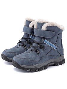 Boot Warm-Shoes Hiking Boys Waterproof Little Winter Kids Mid Ankle for Big 28-41
