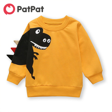 Pullover Dinosaur-Print Baby Toddler Boy Adorable New And Patpat Autumn