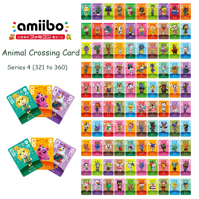 Animal Crossing Card Series 4 (321 To 360) Amiibo Card Work For NS 3DS Game Switch New Horizons Lolly Fang Villager Card Amibo
