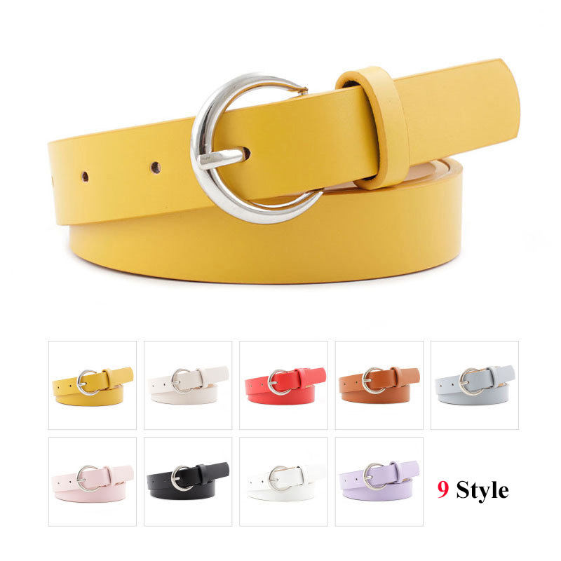 Women's Imitation Leather Pin Buckle Small Belt Female Dress With Sweater Thin Waistbelt Fashion Youth Wild Korean Student Belt