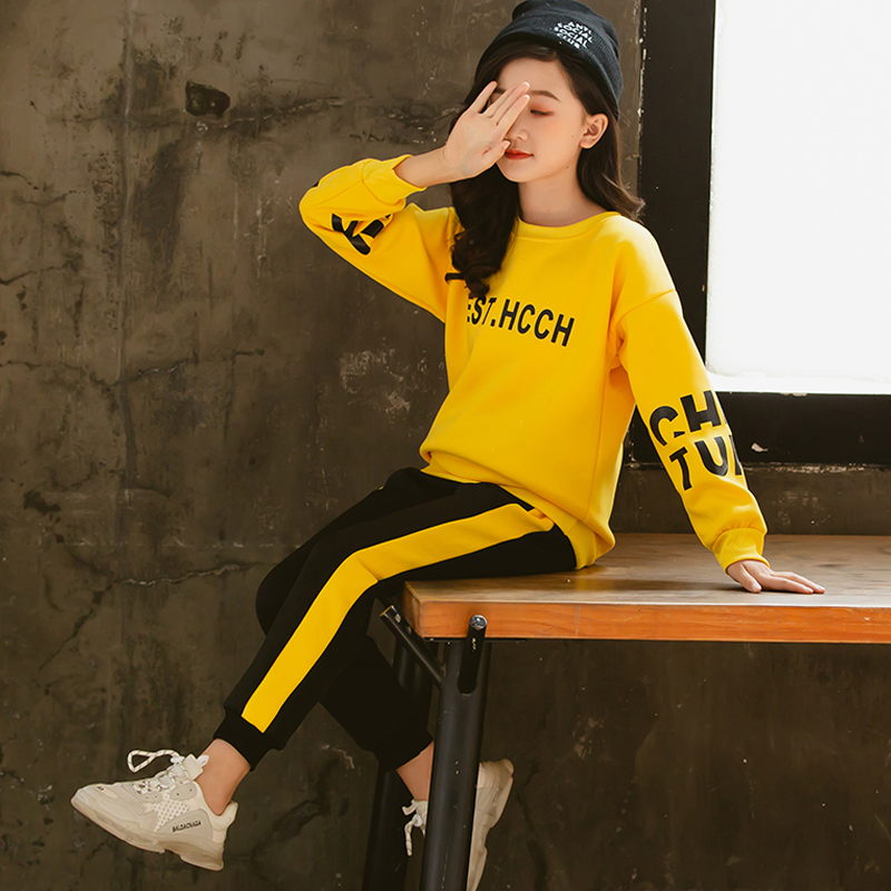 Girls Clothes 2020 Autumn Spring Long Sleeve Shirts + Pants Suits Kids Clothes Teen Children Clothing Sets 5 6 7 8 9 10 12 Years