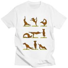 Camiseta Kawaii De Yoga Para Hombres Camisa De Cuello Redondo De Manga Corta Para Amantes De Los Perros Ropa Ajustada De