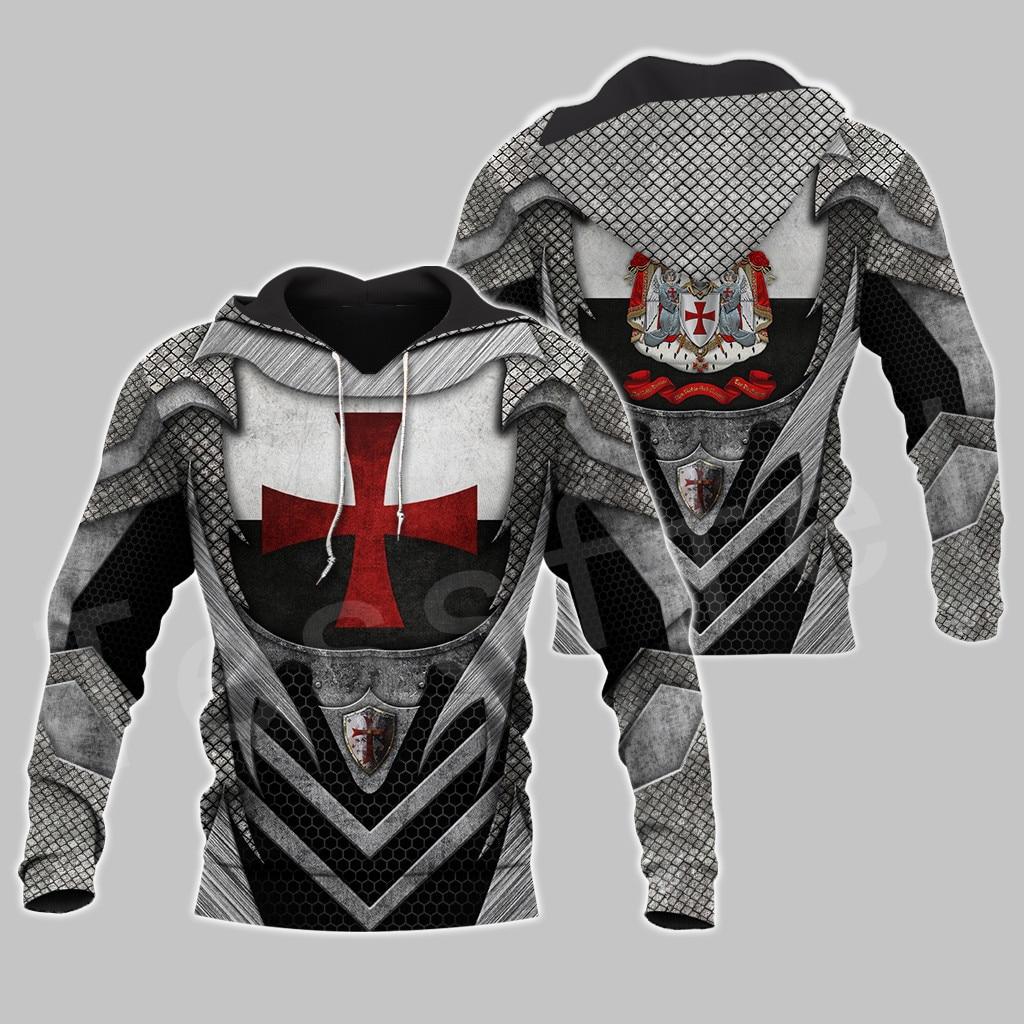 Tessffel Knight Templar Armor Pullover Streetwear Harajuku Funny Tracksuit 3DPrint Zipper/Hoodies/Sweatshirt/Jacket/Men/Women S6