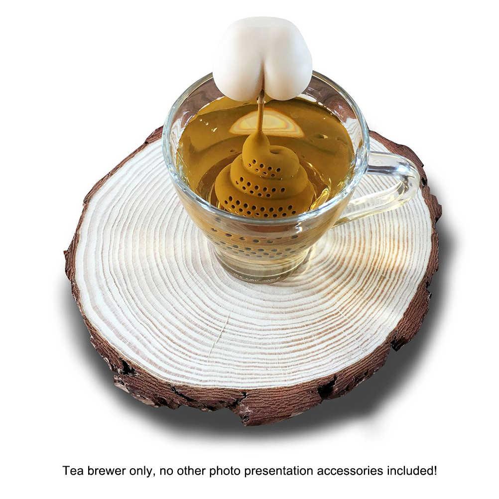 Silicone thé infuseur merde bout à bout forme thé diffuseur drôle Silicone thé infuseur Portable thé passoire outils de cuisine