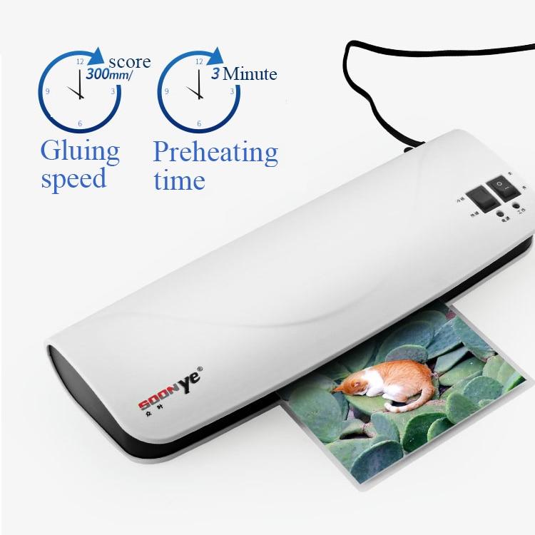 Ev küçük fotoğraf mini A4 kağıt belgeleri plastik paketleme makinesi termoplastik plastik sızdırmazlık laminasyon makinesi
