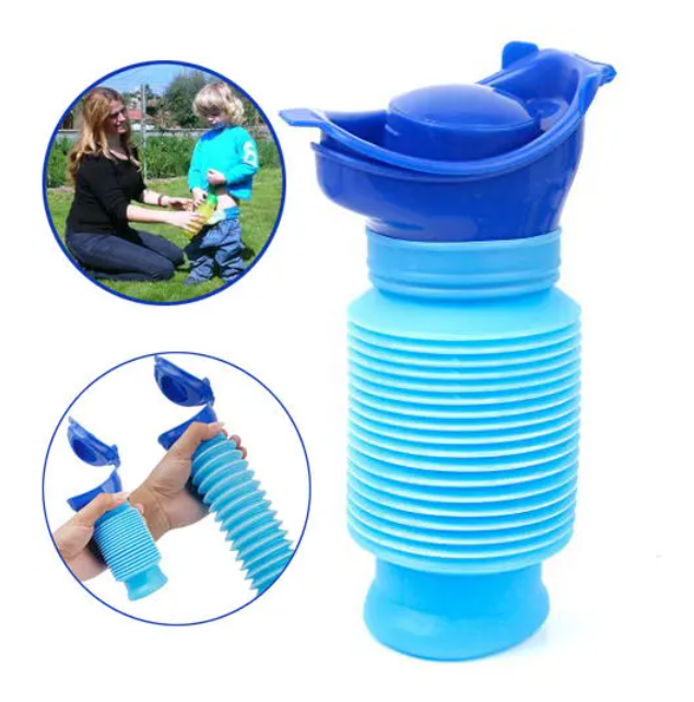 Outdoor Portable Urine Bag Women Men Children 750ML Mini Toilet  For Travel Camp Hiking Potty Children Training Foldable Ansblue
