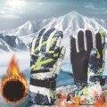 2021 erwachsene Handschuhe Mode Druck Handschuh Wasserdicht Und Kalten Beweis Handschuhe Für Männer Und Frauen Ski Handschuhe Варежки Женские Зимние