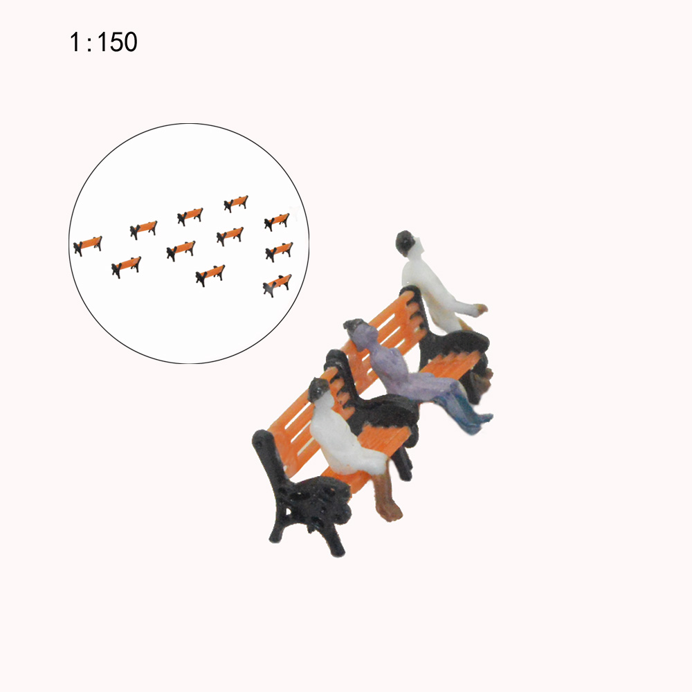 Teraysun 50PCS N Scale  Model Railway Layout 1:150 Garden Bench Model Chair G N HO Scale NEW