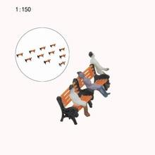 Teraysun 50PCS N scale  Model Railway Layout 1:150 Garden bench model Chair G HO Scale NEW