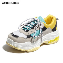 Hip Hop Street Autumn Men Sports Sneakers Men Mesh Lace Up Men High Top Chunky Sneakers Tenis Basket Lace-Up Casual Shoes lace up flatform mesh sneakers