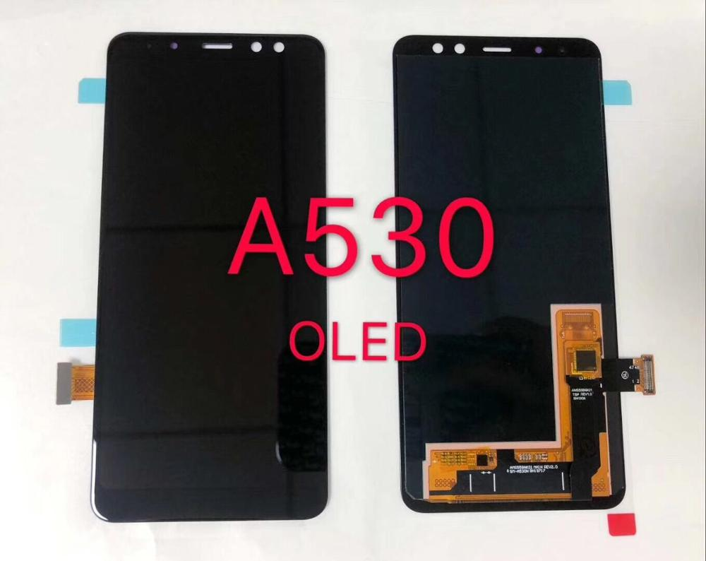 AMOLED LCD For <font><b>Samsung</b></font> Galaxy A8 2018 A530 <font><b>A530F</b></font> A530DS A530N SM-A530N Touch <font><b>Screen</b></font> Digitizer LCD Display Assembly Free Tools image