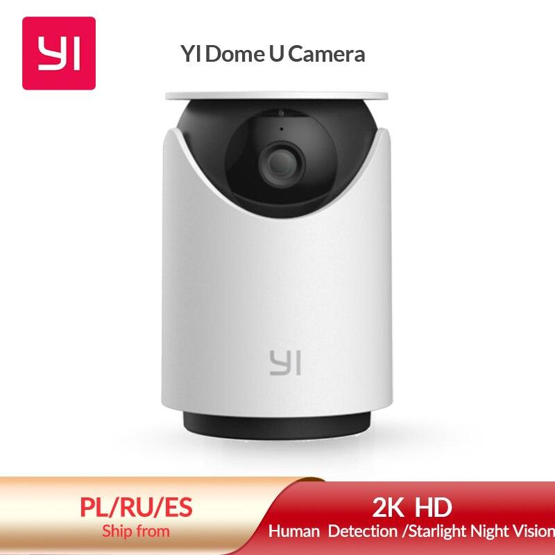 YI Dome U Security 2K домашняя ip-камера для панорамирования и наклона с Wi-Fi человеком и домашним животным AI видео наблюдение голосовой помощник Совме...