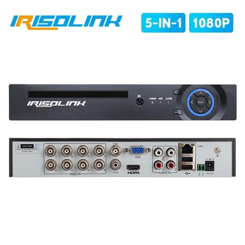 irisolink 2mp 8ch ahd dvr 5 em 1 hibrido h 265 gravador de seguranca para