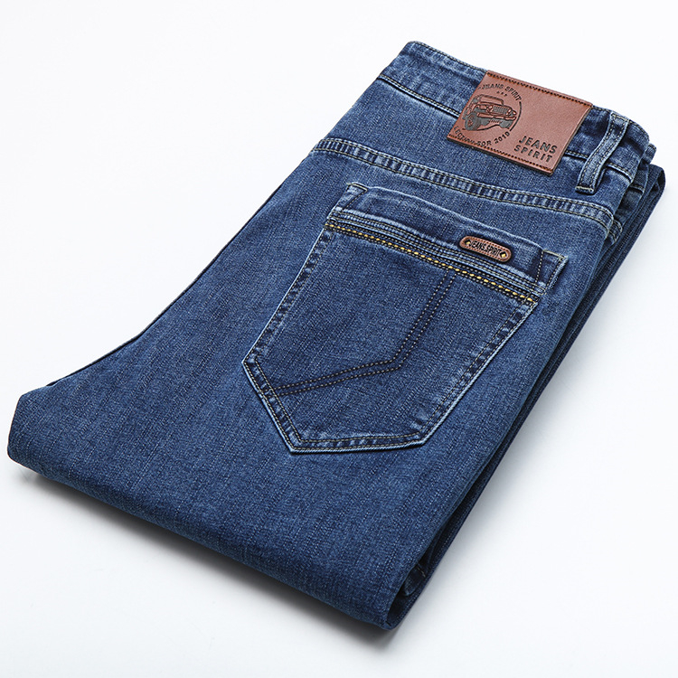 ICPANS 2019 Winter Autumn Denim Jeans Men Classic Straight Stretch Blue Jean Homme Big Size 40 42 44