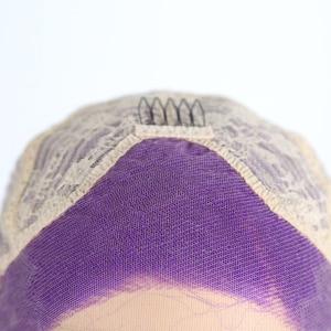 Image 3 - Charisma Lange Körper Welle Haar Lila Spitze Vorne Perücke Seite Teil Synthetische Perücken für Frauen Hitze Beständig Glueless Perücke 150 dichte