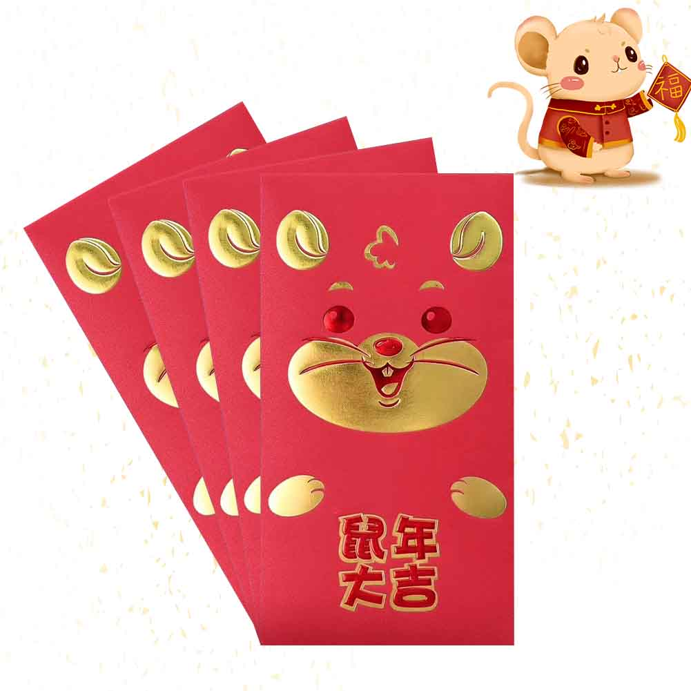 30pcs Rat Packet Spring Festival Red Envelopes Cartoon 2020 Chinese New Year Birthday Housewarming Gift Thickened Lucky Paper
