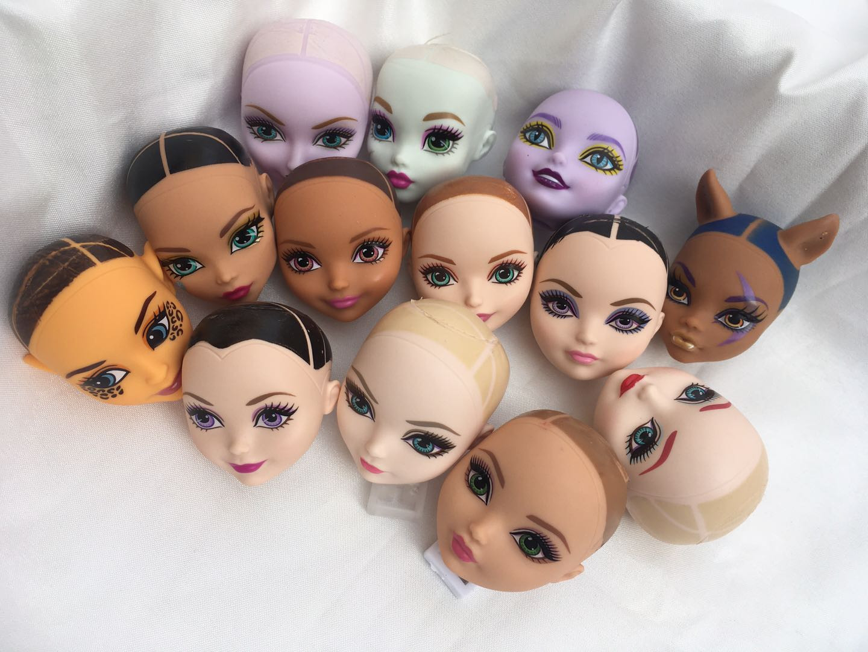 Monstering High Doll Toy Head No Hair Doll  Heads DIY Plants Hair Head Doll Bald Heads Original Rare Collection Head Toys