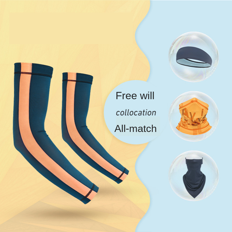 Summer Outdoor Bike Riding Sun Protective Sleeve Viscose Fiber Breathable Motorcycle Sports Fishing Sun Protective Arm Cover