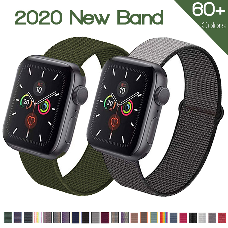 Band For Apple watch Series 3/2/1 38MM 42MM Nylon Soft Breathable Replacement Strap for iwatch series 4 5 6 SE 40MM 44MM|Watchbands| - AliExpress