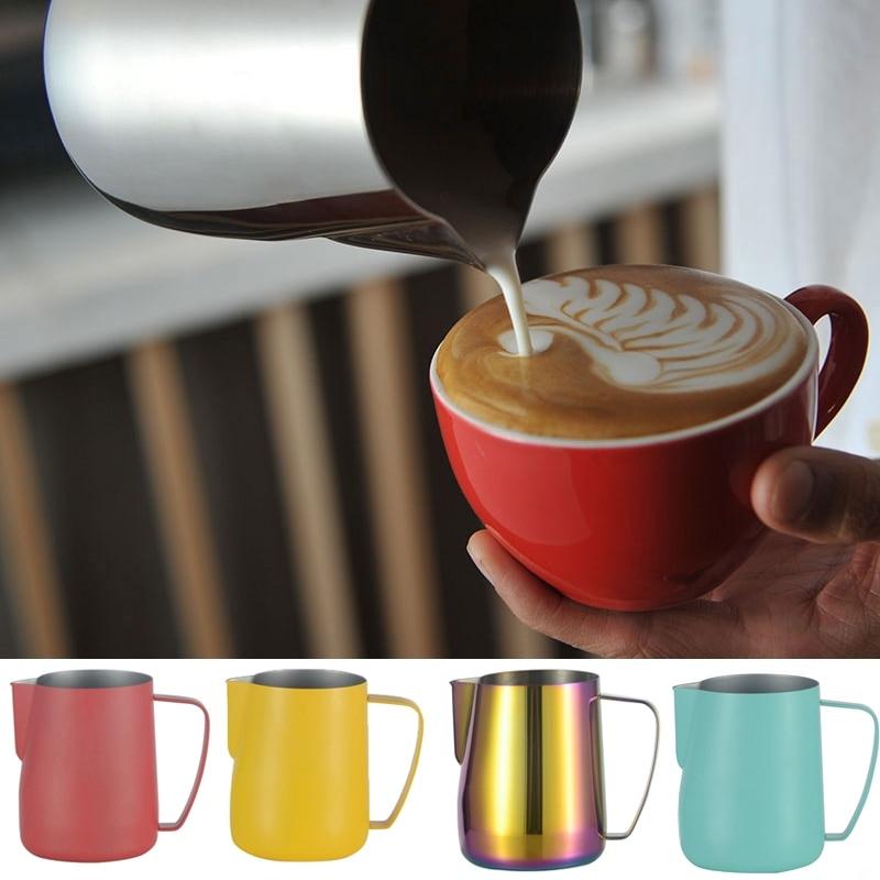 Jarra de Espumador de leche de acero inoxidable para cocina, jarra de café Espresso, Barista Craft, café Latte, jarra de leche, herramientas de jarra