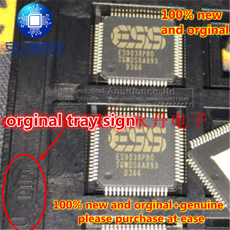 1-5pcs 100% New And Orginal ESS American Companies Decoder Chip QFP ES9038 ES9038PRO In Stock