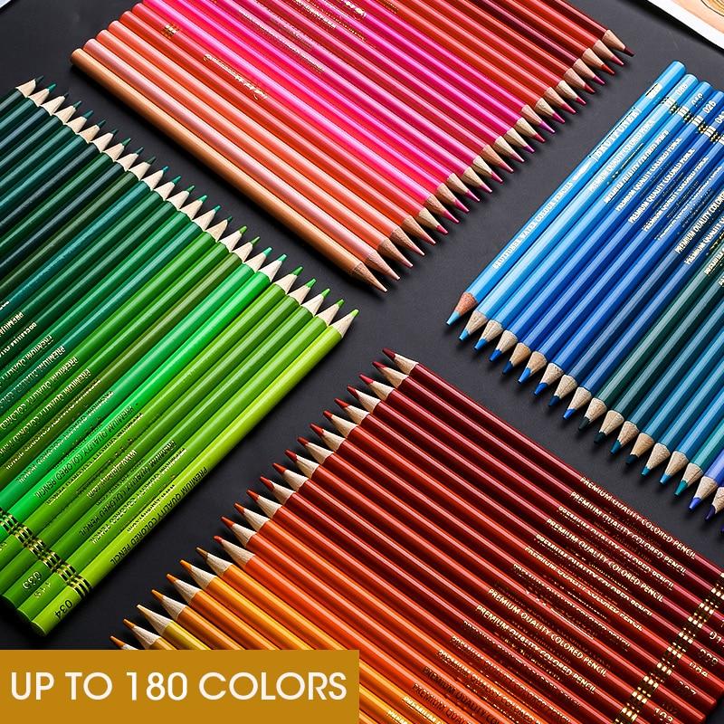Andstal 48/72/120/160/180 Professional Oil Color Pencil Set Watercolor Drawing colored pencils wood colour coloured pencils kids 3