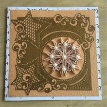 Kokorosa Christmas Star Frame Dies Metal Cutting New 2019 for Scrapbooking Card Making Cover Background Craft Die Cuts